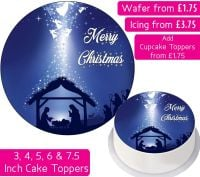 Christmas Nativity Personalised Cake Topper