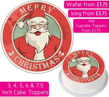 Christmas Santa Personalised Cake Topper