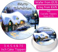 Christmas Snow House Personalised Cake Topper