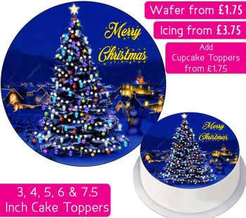 Christmas Tree Personalised Cake Topper