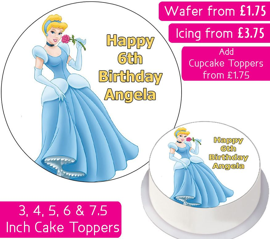 Cinderella Personalised Cake Topper