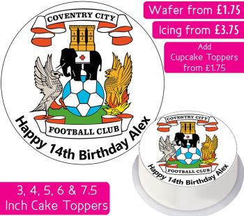 Coventry City Football Personalised Cake Topper