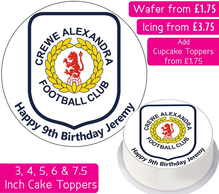 Crewe Alexandria Football Personalised Cake Topper