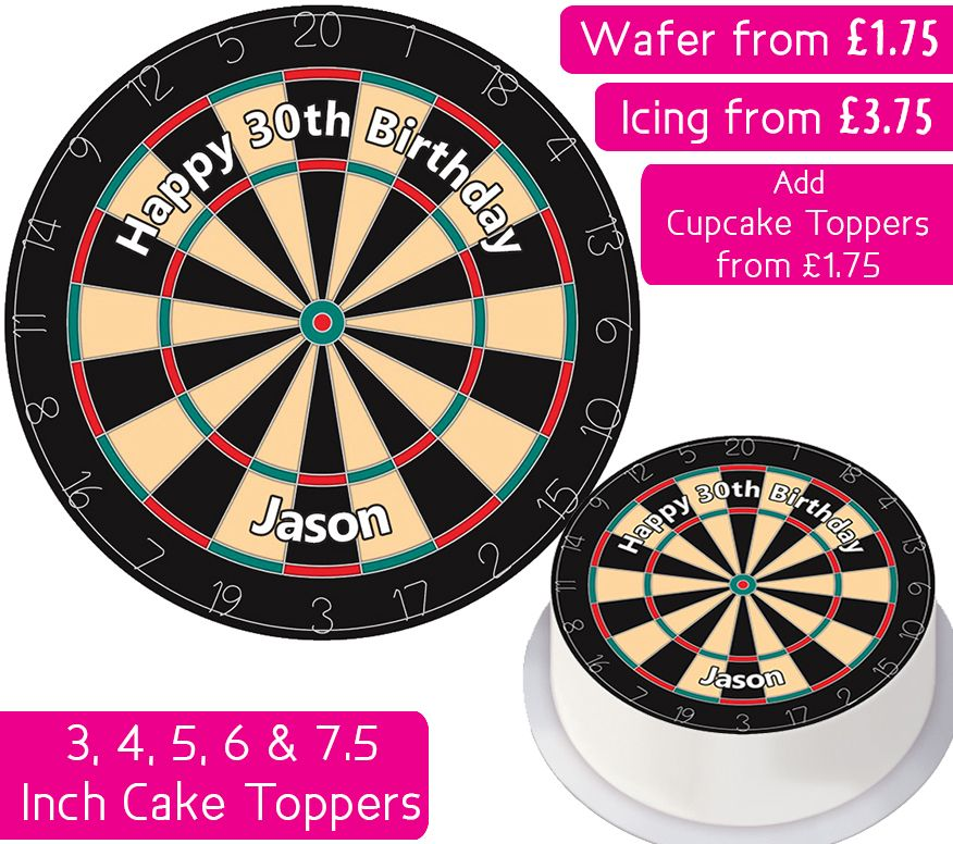 Dartboard Personalised Cake Topper