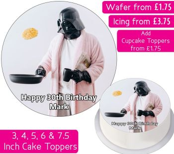 Darth Vader Funny Personalised Cake Topper