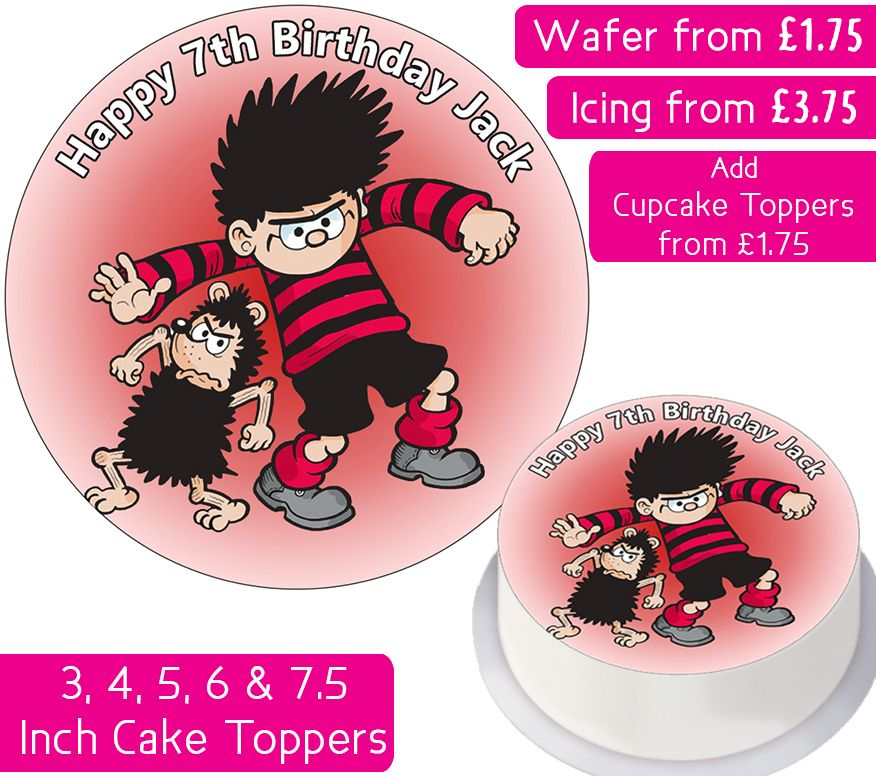 Dennis The Menace Personalised Cake Topper