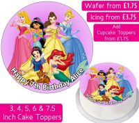 Disney Princesses Personalised Cake Topper