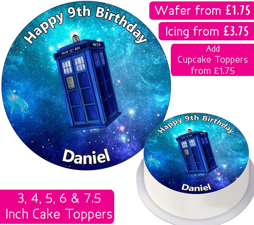 Doctor Who Tardis Personalised Cake Topper