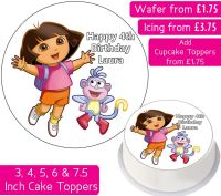 Dora The Explorer Plain Personalised Cake Topper