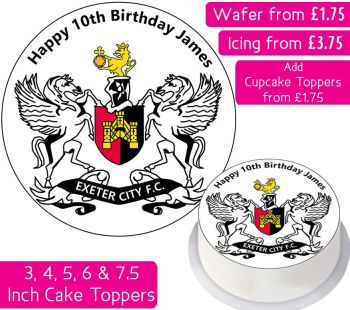 Exeter City Football Personalised Cake Topper