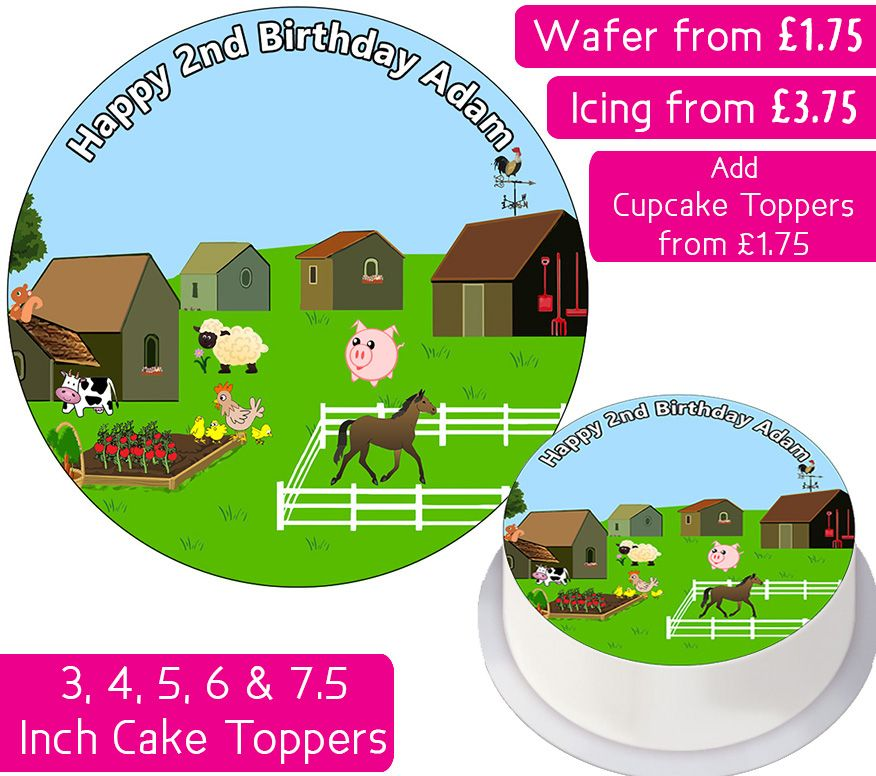 Farm Animals Personalised Cake Topper