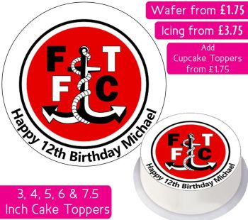 Fleetwood Town Football Personalised Cake Topper