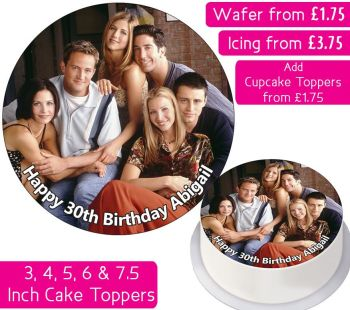 Friends Gang Personalised Cake Topper