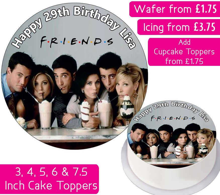Friends Milkshake Personalised Cake Topper