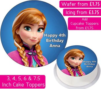 Frozen Anna Personalised Cake Topper