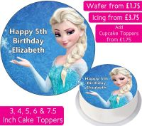 Frozen Elsa Personalised Cake Topper