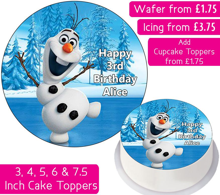 Frozen Olaf Personalised Cake Topper