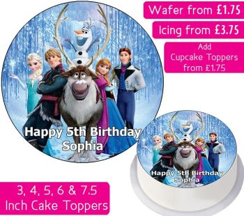 Frozen Team Personalised Cake Topper