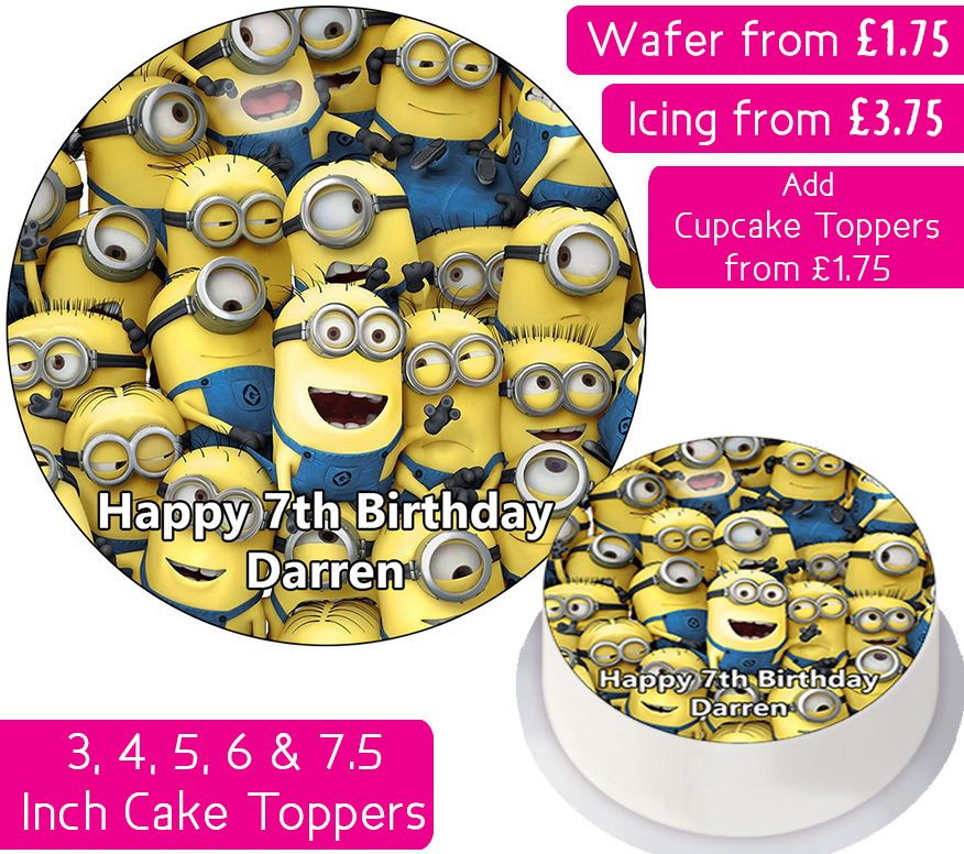 Full Of Minions Personalised Cake Topper