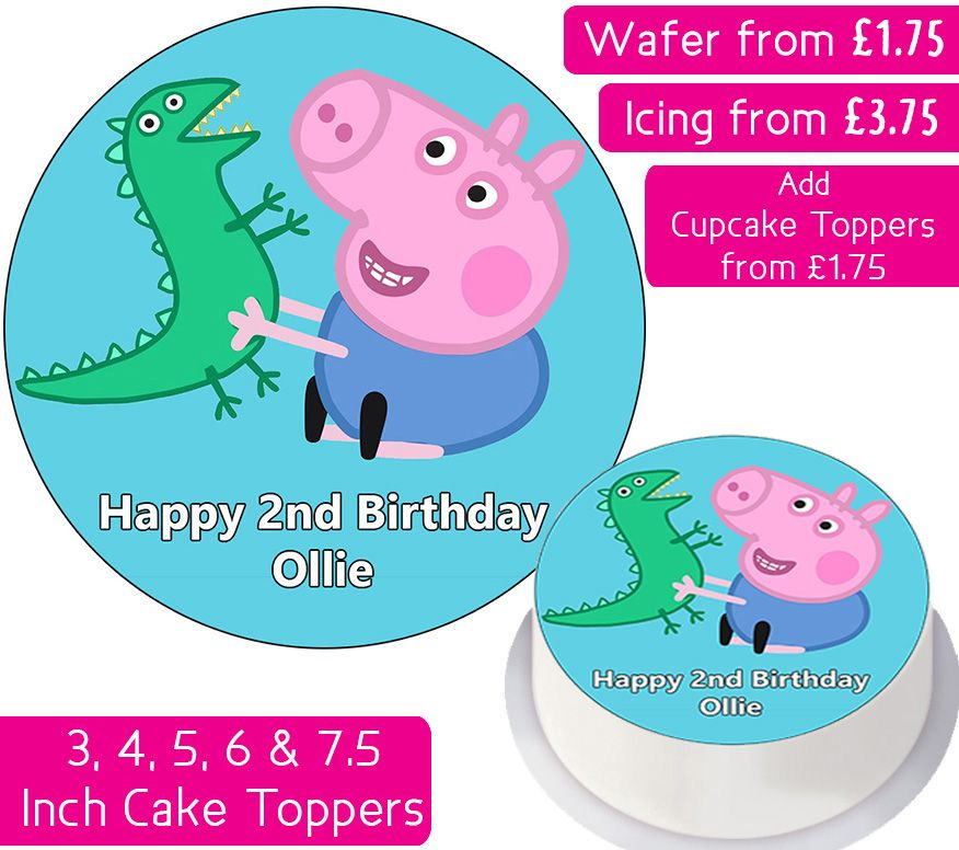 George Peppa Pig Personalised Cake Topper