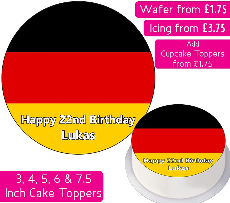 Germany Flag Personalised Cake Topper