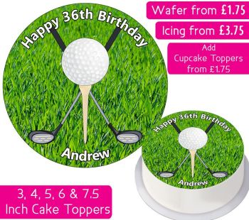 Golf Personalised Cake Topper