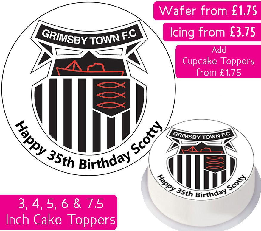 Grimsby Football Personalised Cake Topper