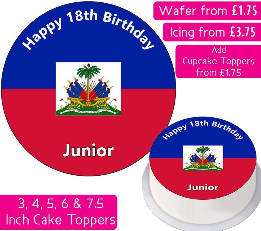 Haiti Flag Personalised Cake Topper
