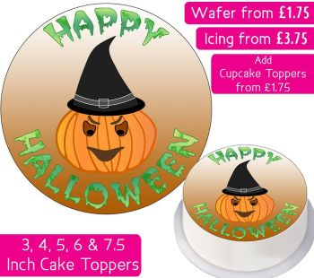 Halloween Pumpkin Personalised Cake Topper