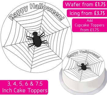 Halloween Spider Personalised Cake Topper