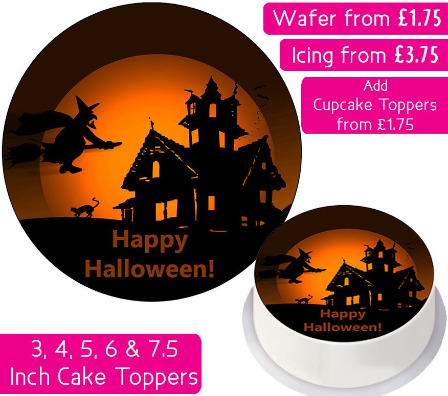 Halloween Witch Personalised Cake Topper