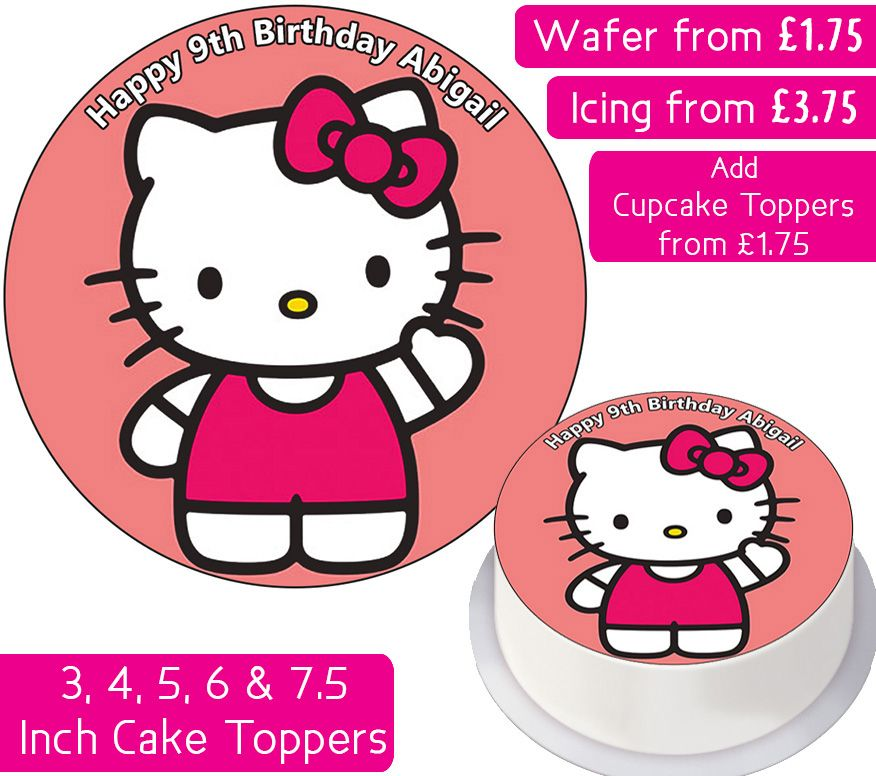 Hello Kitty Personalised Cake Topper