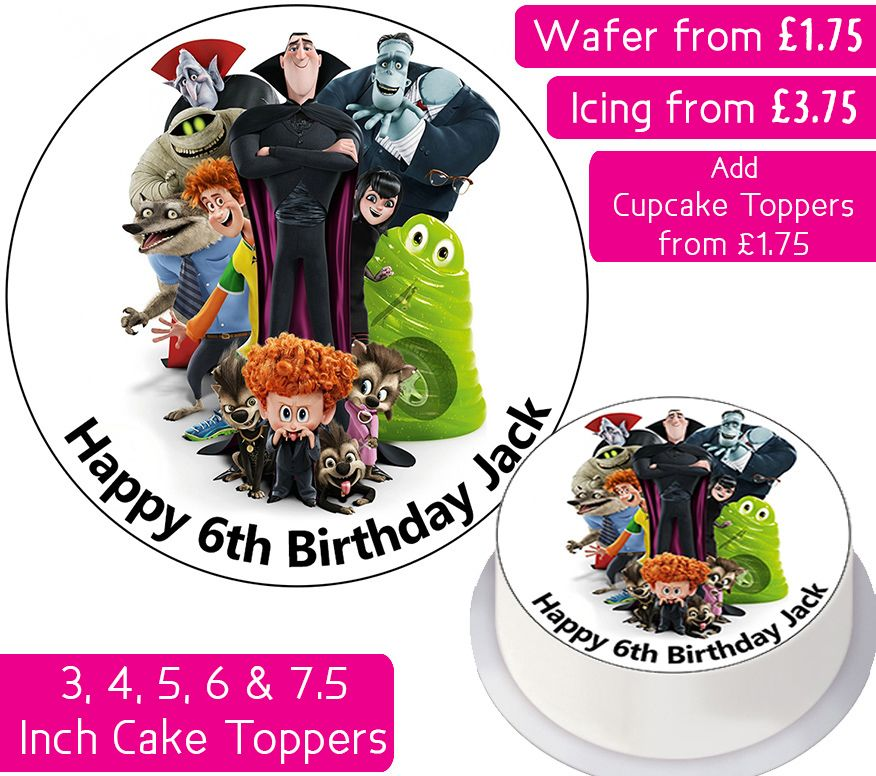 Hotel Transylvania Personalised Cake Topper