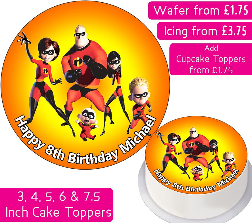 Incredibles Personalised Cake Topper