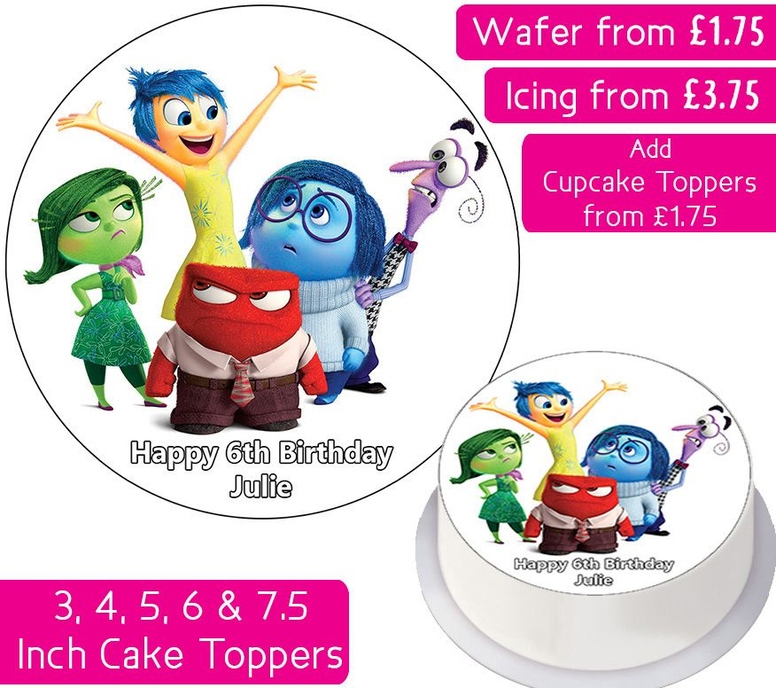 Inside Out Personalised Cake Topper