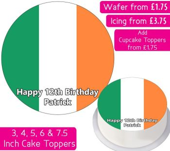 Ireland Flag Personalised Cake Topper