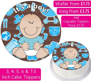 It's A Boy Personalised Cake Topper