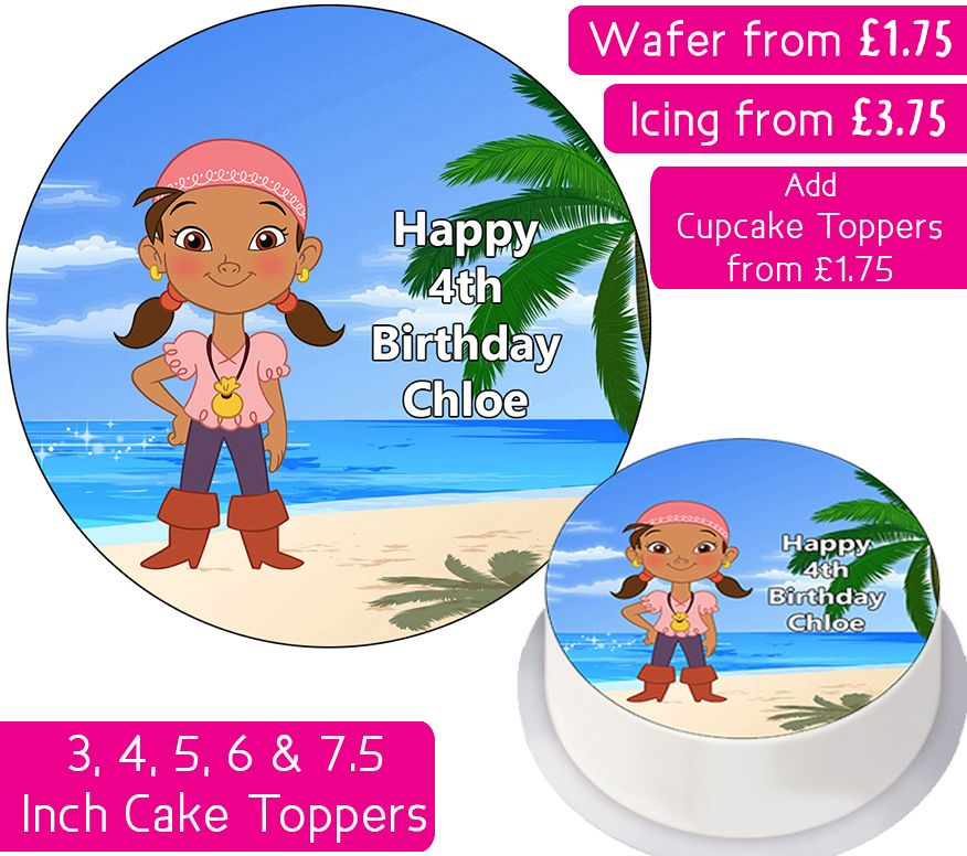 Izzy - Neverland Pirates Personalised Cake Topper