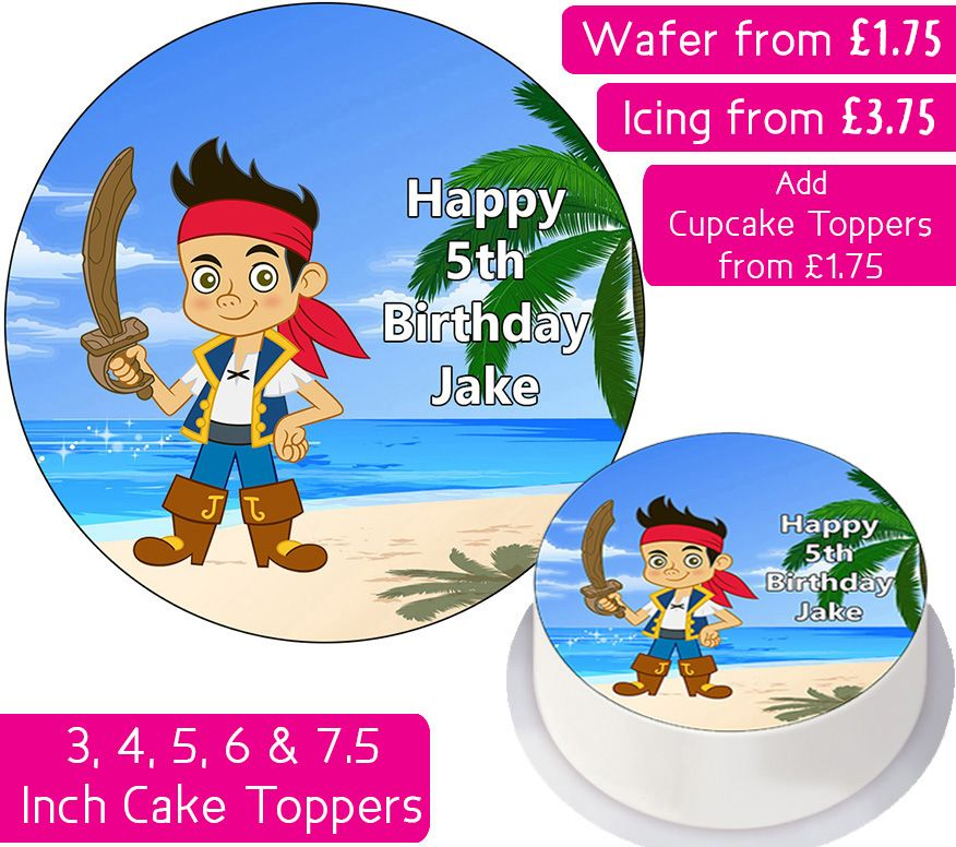 Jake - Neverland Pirates Personalised Cake Topper