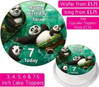 Kung Fu Panda Family Personalised Cake Topper