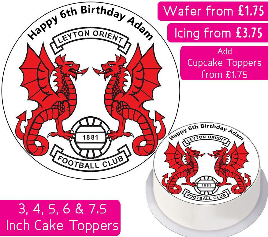 Leyton Orient Football Personalised Cake Topper