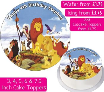 Lion King Personalised Cake Topper