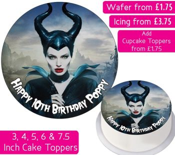 Maleficent Personalised Cake Topper