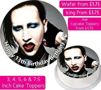 Marilyn Manson Personalised Cake Topper