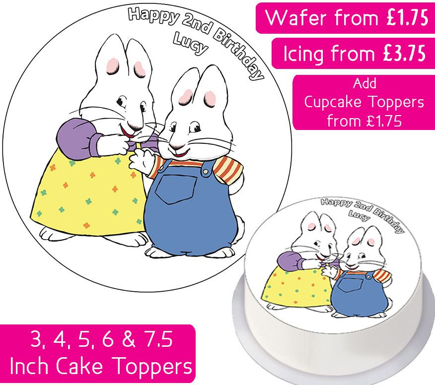 Max & Ruby Personalised Cake Topper