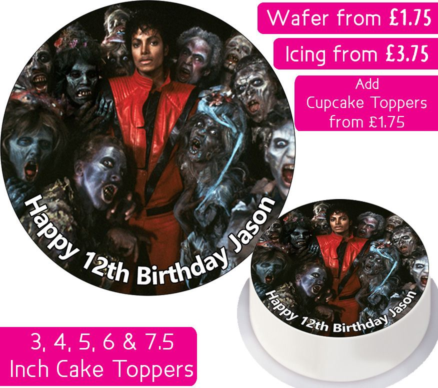 Michael Jackson's Thriller Personalised Cake Topper