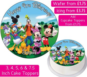 Mickey Mouse Clubhouse Personalised Cake Topper