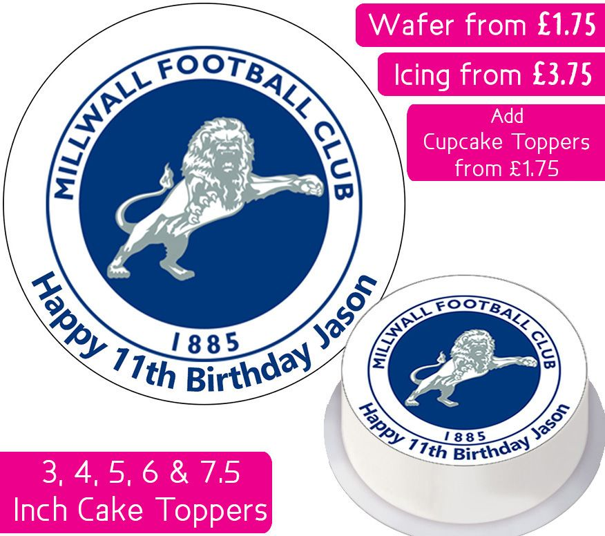 Milwall Football Personalised Cake Topper