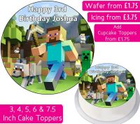Minecraft Gang Personalised Cake Topper