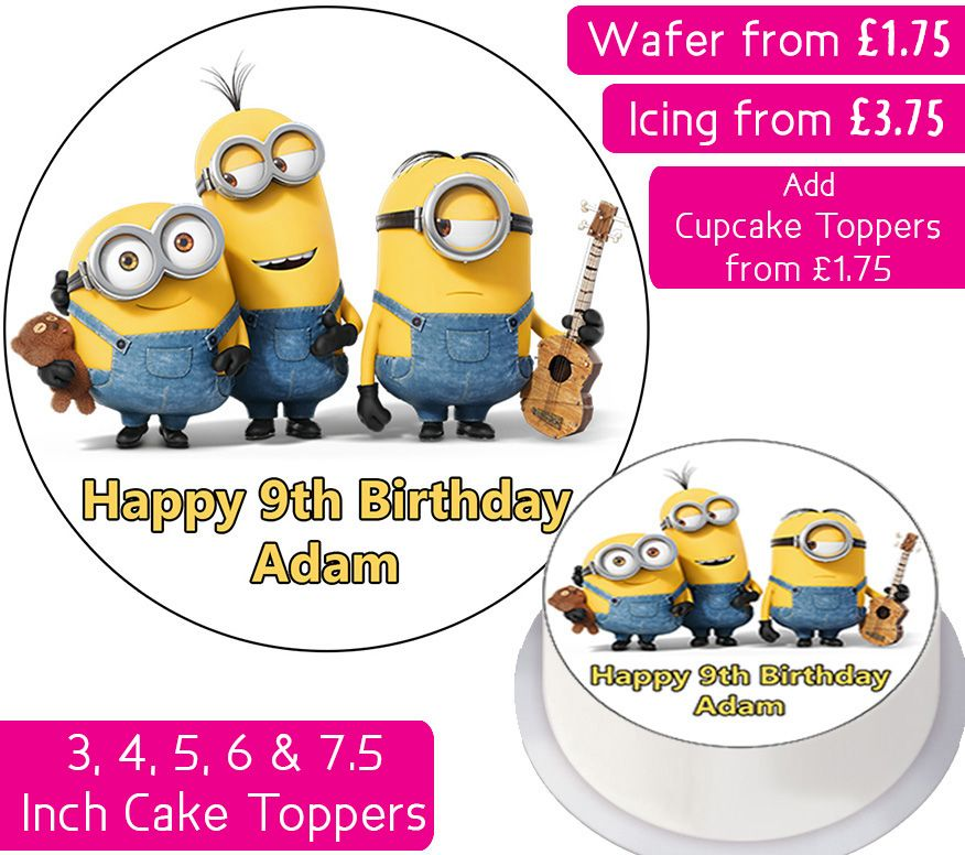 Minions Personalised Cake Topper